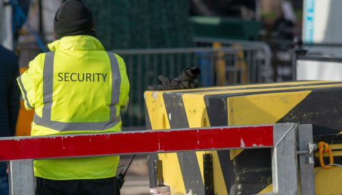 Man stood out on a manned security patrol for Express Securities