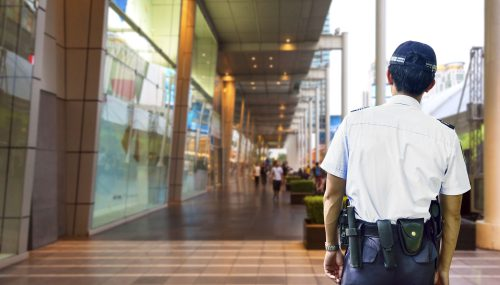 Retail security guard working for Express Securities